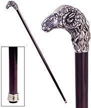 Design Toscano Emperor's Ram Head Pewter Walking Stick