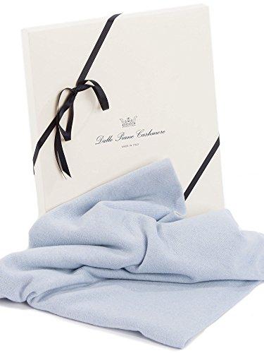 Dalle Piane Cashmere - Zwei Farben Babydecke aus 100% Kaschmir - Farbe: Himmel