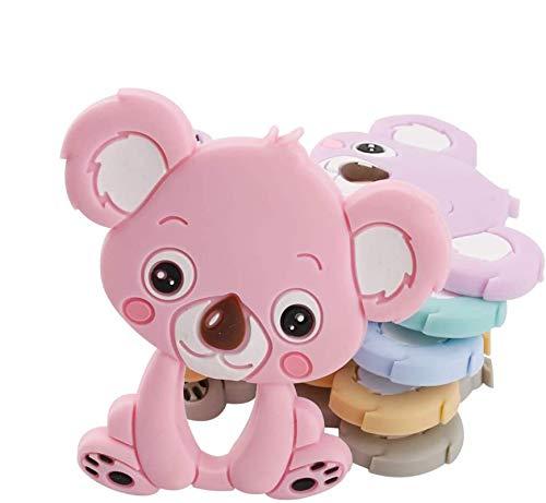 Mamimami Home DIY Dentizione Koala Silicone Collana per Allattamento Braccialetti in Silicone Catenella Ciuccio Giocattoli Montessori Dentition Kits Colore Casuale 5pc