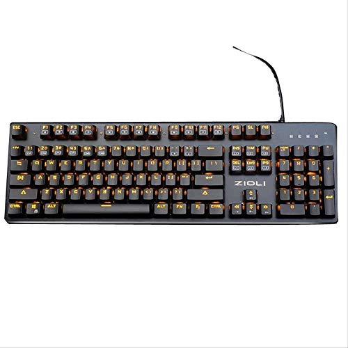 DJYD Optische Achsen-Version der mechanischen Tastatur Internet Cafés Elektro Wettbewerb Spiel Plug-In Blau-Achse Mechanische Tastatur FDWFN