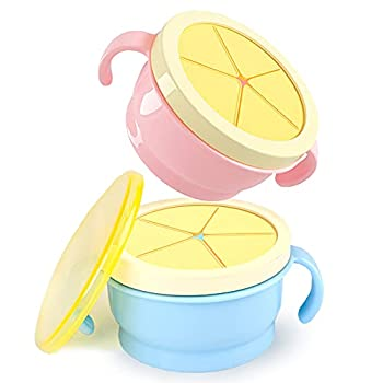 boben kids spill proof toddler snack cup with twist top and snap lid  blue