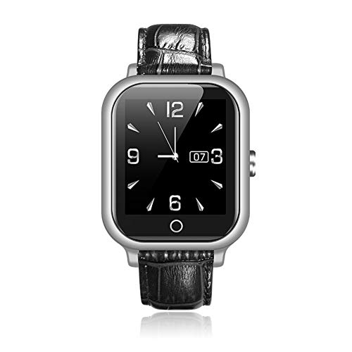 OIHODFHB Negro Anciano Inteligente Inteligente Reloj Digital Ubicación Monitoreo de Salud SOS Teléfono Relojes