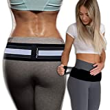 Sacroiliac SI Joint Hip Belt - Durable Anti-Slip Pelvic and Lower Back Support Brace for Men and Women - Pain Relief for Sciatica, Pelvis, Lumbar, Nerve and Leg Pain - Stabilizing Compression