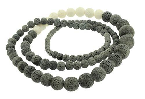 Culture Mix Halskette mit Perlen, Koralle, Grau & Weiß