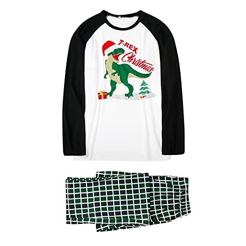 ROYIYI Weihnachten Familie Schlafanzug Outfit Christmas Hausanzug Nachtwäsche Herren Damen Kinder Lang Pyjamas Set mit Weihnachtsmotiv Fun-Nachtwäsche