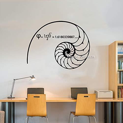 sxh28185171 Mathematik Wandtattoo Goldener Schnitt Fibonacci Mathematik für Mathematik Wandaufkleber Kunst Vinyls 55cm x 42cm