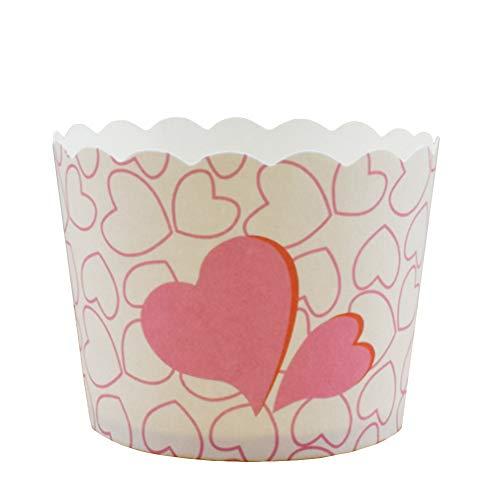 Beiersi 24 Pièce Caissette Cupcake Moule Muffin Papier pour Imperméable Aux Graisses Aux Gâteaux Muffin Moules de Cuisson en Papier Decoration Mariage et Festivités (Rose)
