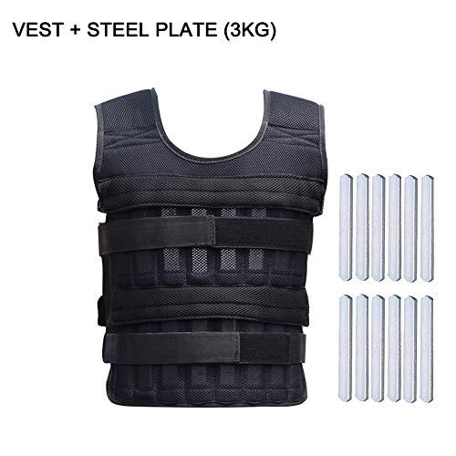 Weight Vest-1kg 3kg Ajustable Weighted Vest Pérdida