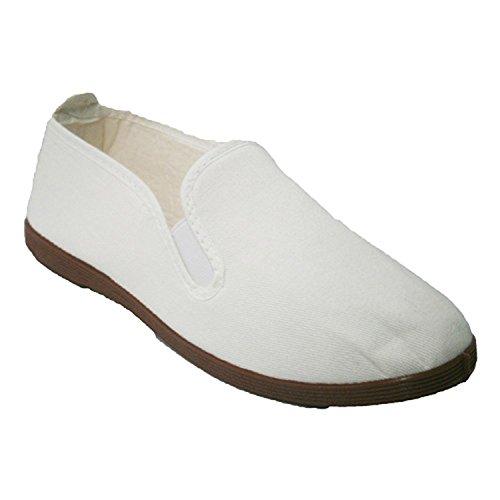 Zapatillas para Taichi kunfú y Yoga Irabia en Blanco Talla 38