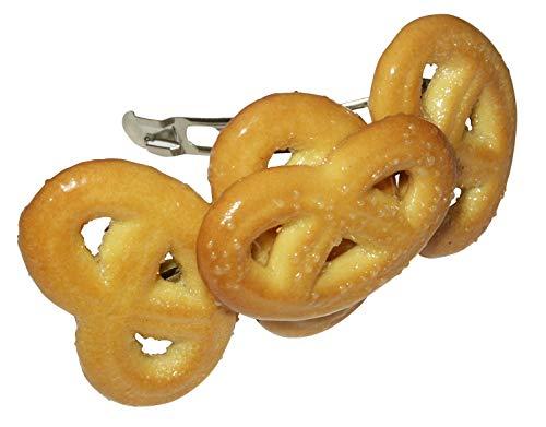 Keksbrezel Haarspange - Spange aus echten Keksen, Kopfschmuck, tolle Geschenkidee, Crazy Clips Collection