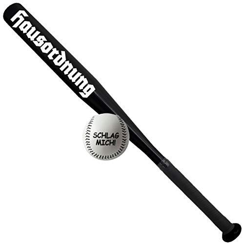Spass kostet Sportset Baseballschläger mit Ball Aluminium 26 Zoll Hausordnung Weiß