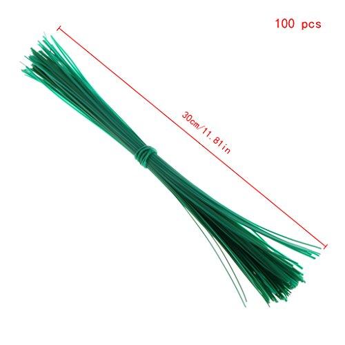 Yanhonin - 100 unidades de tutor planta, abrazaderas de cable de plantas...