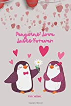 """Sponsored Ad - Penguins' Love Lasts Forever: Food Journal, 6""""x9"""", 110 Pages, Losing Inspiration to Eat Healthy, Keto Diet,..."""