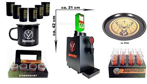 Jägermeister Set 11teilig mit Bottle Tap Machine TAP Maschine OHNE Flasche Zapfanlage LED beleuchtet