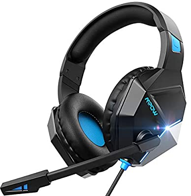 Mpow Gaming Headset for PS4/Xbox One/PC, Clear & Positional Audio with 50mm Drivers, 8Oz Ultra-Light Gaming Headphone with Soft Memory-Protein Earmuff and Noise Cancelling Mic, All-Platform Compatible