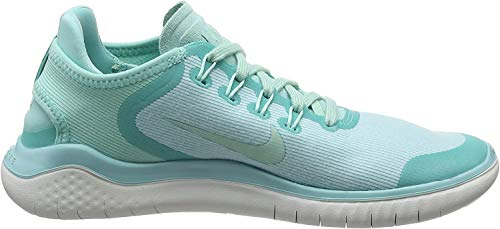 Nike Free Rn 2018 Sun Sz 5 Womens Running Island Green/Igloo-Vast Grey Shoes