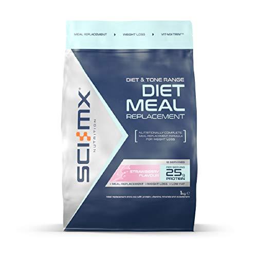 SCI-MX Diet Meal Replacement, Mahlzeitenersatz-Shake, Eiweiβ pulver, 1kg, Erdbeere
