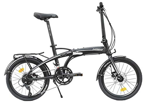 HASA Folding Foldable Bike Compatible with Shimano 18 Speed Black