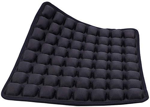 Camperig - Cojín inflable para asiento de aire, portátil, silla de oficina, silla de ruedas, cojín antiescaras para aliviar el dolor y la presión del dolor, cojín de camping (negro)
