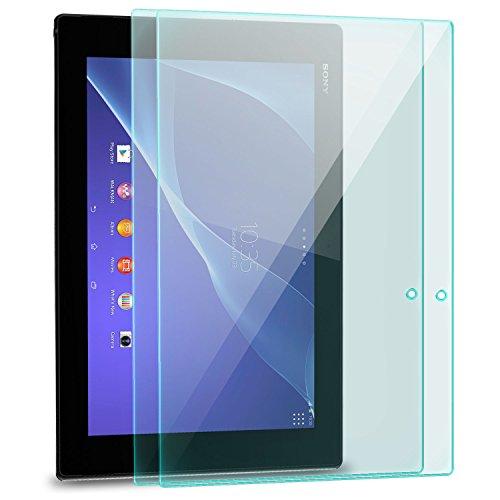 zanasta 2 Stück Bildschirmschutz Folie kompatibel mit Sony Xperia Tablet Z2 Glasfolie aus Gehärtetem Glas Panzerfolie Schutzglas | HD Klar Transparent
