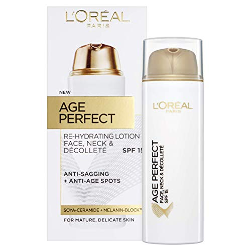 L'Oréal Age Perfect Face, Neck and Décolleté Lotion SPF15, 50 ml