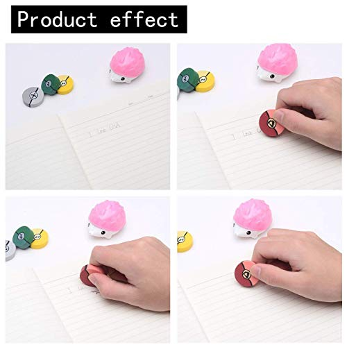 60 1-Inch Poke Ball Erasers for Kids - Pokemon Ball Inspired Designs Materials Won't Smudge or Tear Paper - Great for Homework Rewards, Party Favors, and Art Supplies