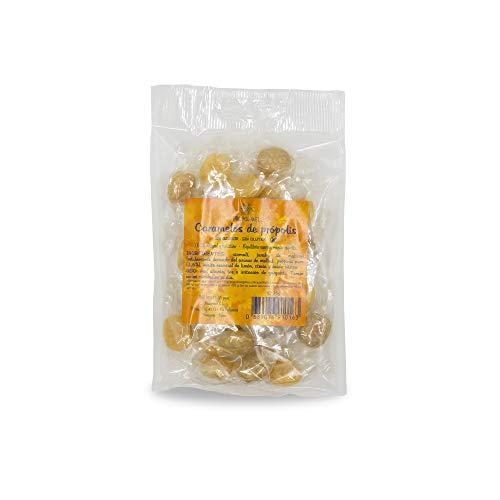 75 g - Caramelos de Propoleo Sin gluten y Sin azucar. Elaborado con propolis puro finamente troceado. Recomendado para el mal aliento, el aparato bucal y la garganta.