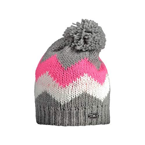 CMPI5 Mädchen Berretto Multi Color Con pom hat, Fumo Mel, U