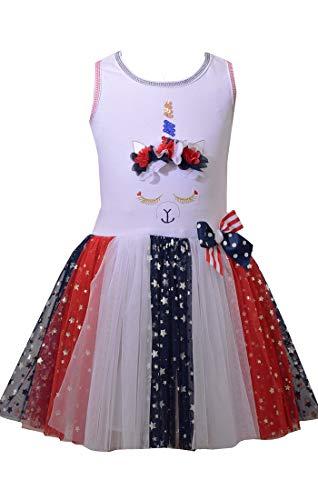 Bonnie Jean Girl's 4th of July Dress - Unicorn Americana Dress (6)