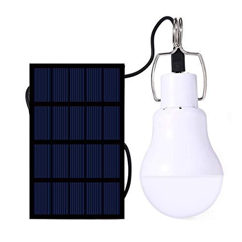 IVYSHION Led-lamp op zonne-energie, draagbaar lampje voor buiten, camping, wandelen, lezen tent vissen, verlichting