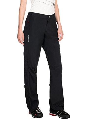 VAUDE Damen Yaras Rain Zip Pants II Hose, schwarz(black), 42