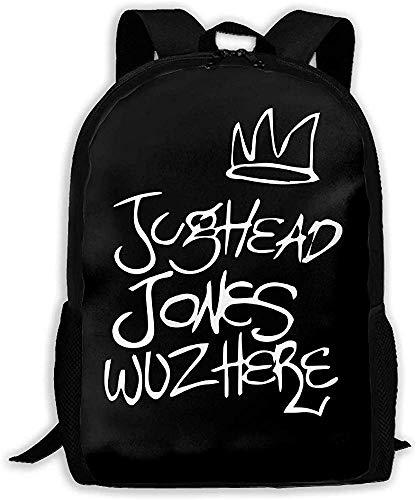 Yuanmeiju Unisex Bookbag Jughead Jones Wuz Here Unisex Backpack Shoulder Bag School Backpack Travel Bags Laptop Backpack
