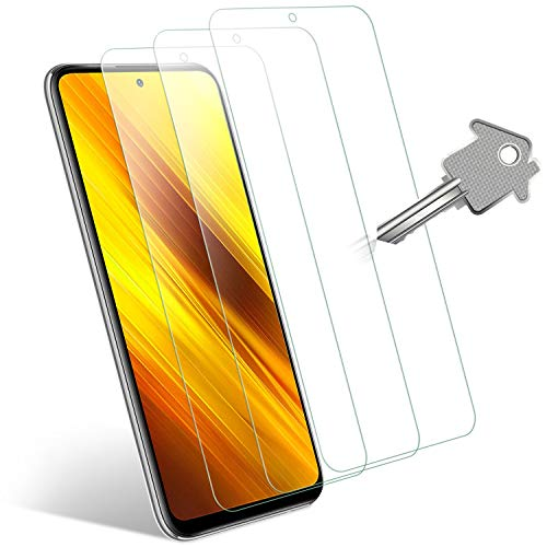 Wonanse Panzerglas Schutzfolie für Xiaomi Poco X3 NFC/Redmi Note 9S/Note 9 Pro Panzerglas, [3 Stück] [9H Härte] [Einfache Installation] 99.99% HD Panzerglasfolie für Poco X3 NFC/Redmi Note 9S/9 Pro