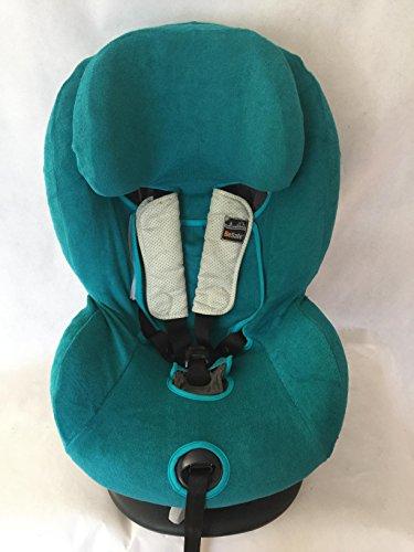 Sommerbezug Schonbezug Frottee für HTS Besafe iZi Comfort X3 Combi X4 Kid X2 Plus Frottee 100% Baumwolle petrol