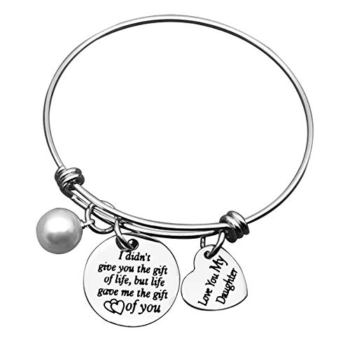 Stepdaughter Bangle Daughter Adjustable Bracelet Wedding Bangle for Daughter in Law Stepdaughter Bangle Step Daughter Bracelet from Stepmom Love You My Daughter