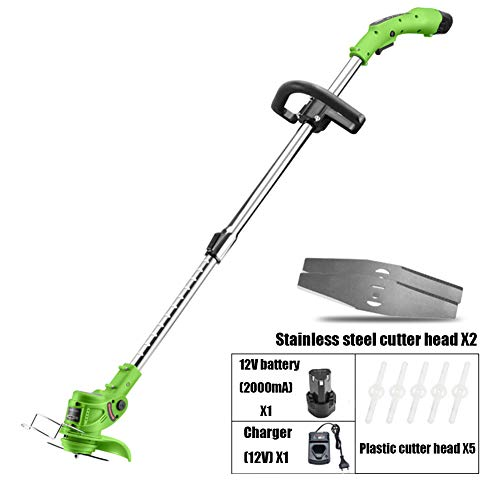 Best Prices! CYCPACK 12V 450W Electric Grass Strimmers with Blades, Telescopic Cordless Garden Weed ...