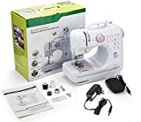 Big Household Sewing Machine, Multifunctional Portable Electric Sewing Machine with 12 Stitches, 2 Speeds, Foot Pedal, LED Sewing Lamp, Hand-held Tailor Machine for Fabric/Pets Kids Cloth/Handicrafts
