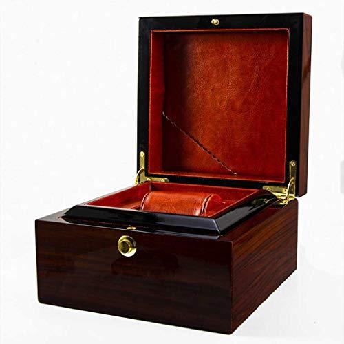WNDRZ Caja De Reloj De Madera Soporte De Un Solo Cinturón con Cojín Extraíble Vitrina Caja De Almacenamiento De Joyas