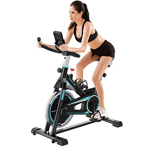 2WD Cyclette da Fitness-Bike,Bicicletta da Fitness, Cyclette con Trasmissione a Cinghia, Cyclette, Cyclette con Monitor LCD e portabicchieri per Esercizi Cardio a casa