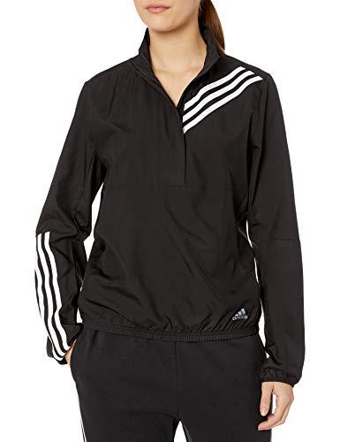 adidas Women's Run It 3-Stripes Anorak Black X-Large