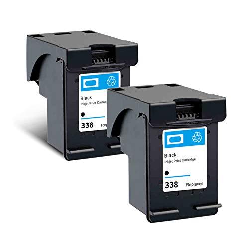 Cartuchos de tinta remanufacturados, Reemplazo de cartucho negro 338 para HP 8765E 6520 6540 7850 Cartuchos de impresora de inyección de tinta de alto rendimiento de Black