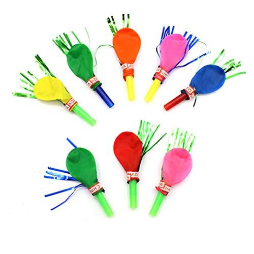 YeahiBaby 30 Piezas Silbatos de Soplado Múltiples Ideal para Piñata Juguetes Rellenos Bolsas de Fiesta Cumpleaños (Color al Azar)