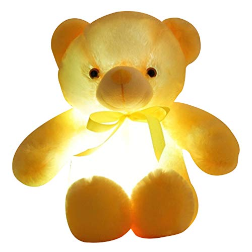 MAYouth Led Teddy Bear Light Up Blue Plush Toy Stuffed Animal Glowing Kids Gift New