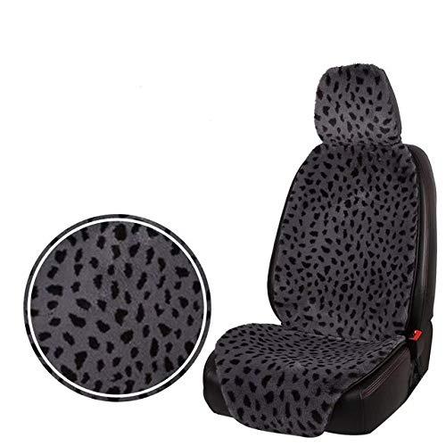 Cubierta de asiento de coche Asiento universal de coche de la felpa de la cubierta del leopardo caliente la piel de imitación automática del asiento delantero del cojín del amortiguador del interior d