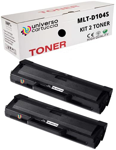 2pz x MLT-D1042S Toner Compatibile Nero per Samsung ML-1660 ML-1661 ML-1665 ML-1666 ML-1670 ML-1675 ML-1860 ML-1865 ML-1865W SCX-3200 SCX-3201 SCX-3205 SCX-3205W SCX-3206 SCX-3217 SCX-3218