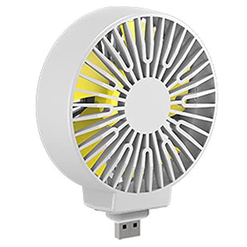 ColourQ - Ventilador de escritorio USB portátil de 5 V para el hogar, la oficina, la escuela, acampar al aire libre