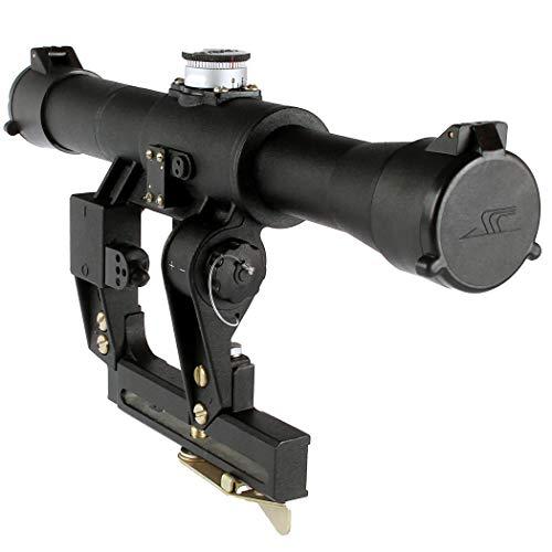BelOMO POSP 4x24 V (B). Optical Rifle Scope. Russian Side Mount. 400m Rangefinder. 1 MOA. Combloc