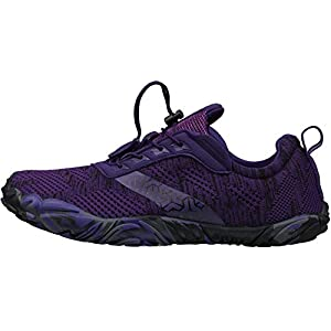 Joomra Womens Barefoot Road Running Shoes Size 8.5 Minimalist Wide Camping for Ladies Zero Drop Fitness Jogging Athletic Hiking Trekking Toes Workout Trail Sneakers Purple 39