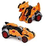 Fencelly Juguetes de transformador de dinosaurio, juguete de coche de dinosaurio transformador manual para niños regalos de fiesta de cumpleaños