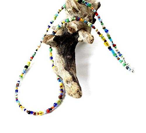 Mens jewelry, African necklaces, Gifts for men, Beaded necklace men, Seed bead necklace, African bead necklace, African beaded necklace, Colorful necklace, Necklace for men, African necklace,